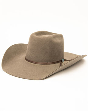 Resistol Men's Cattleman Wool Western Hat, Grey, hi-res