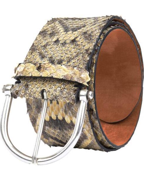 Lucchese Women's Eastern Rattlesnake Belt , Sand, hi-res