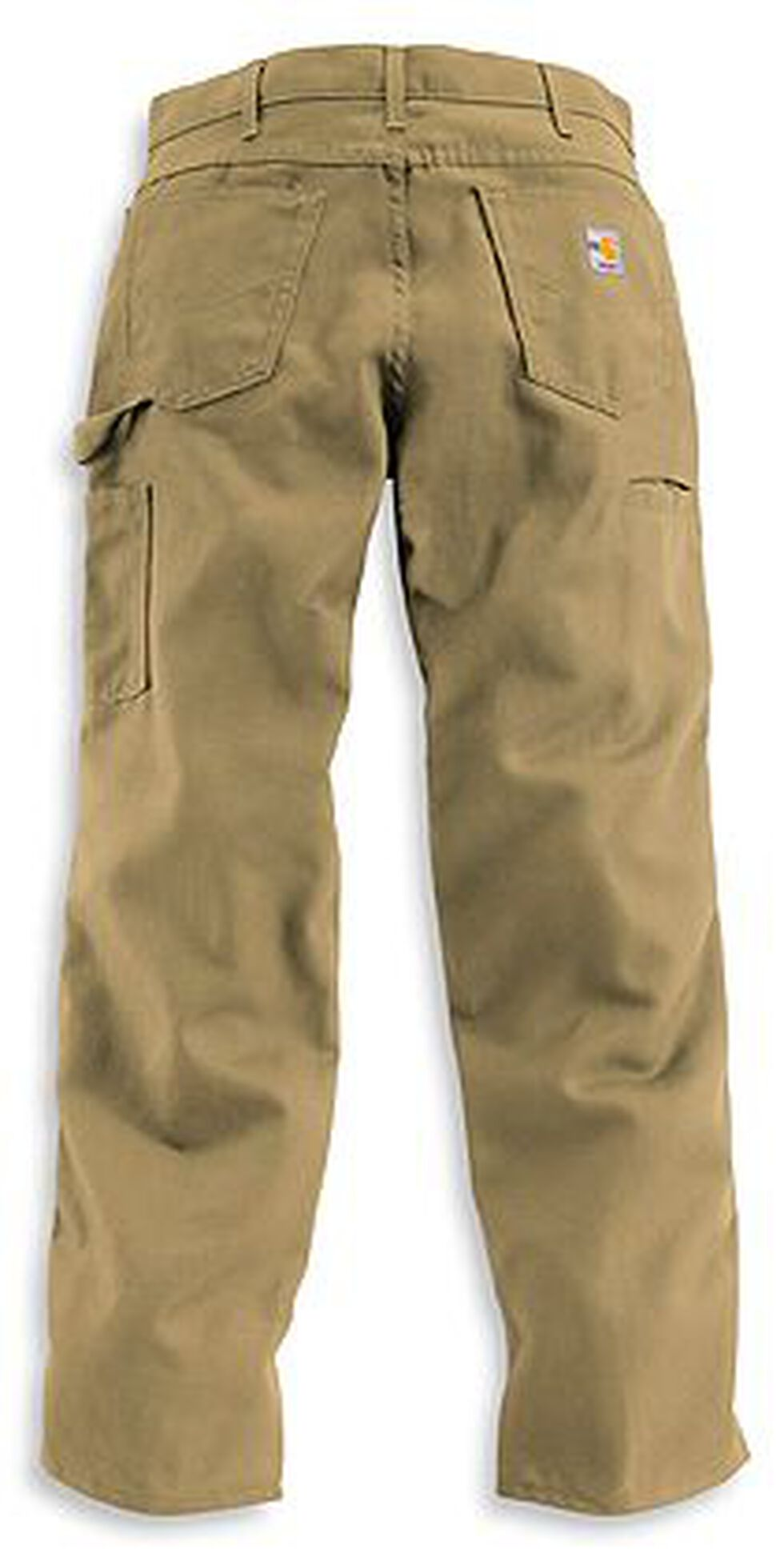 Carhartt Flame Resistant Canvas Work Pants - Big & Tall, Khaki, hi-res