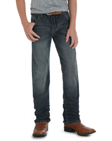 Wrangler Retro Boys' Jerome Slim Straight Jeans , Blue, hi-res
