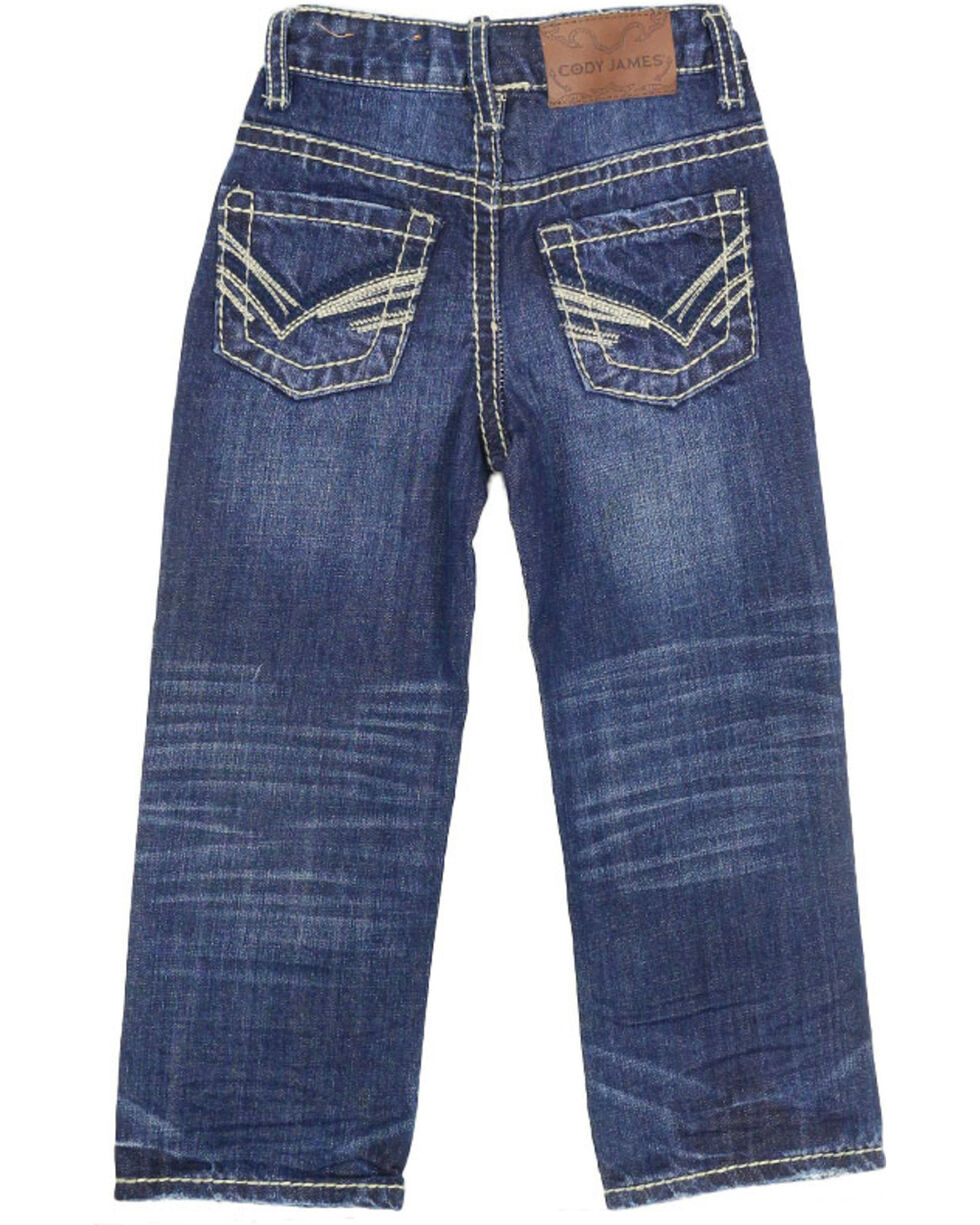 Cody James Youth Boys' Boot Cut Jeans, Dark Blue, hi-res