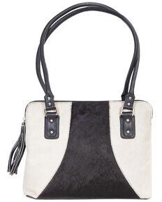 Scully Black & White Hair-on-Hide Shoulder Bag, Animal Prt, hi-res
