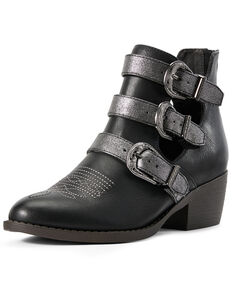 Ariat Women's Unbridled Melody Harness Fashion Booties - Round Toe, Black, hi-res