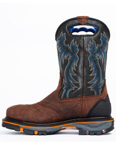 Cody James Men's Decimator Waterproof Western Work Boots - Composite Toe, Brown, hi-res