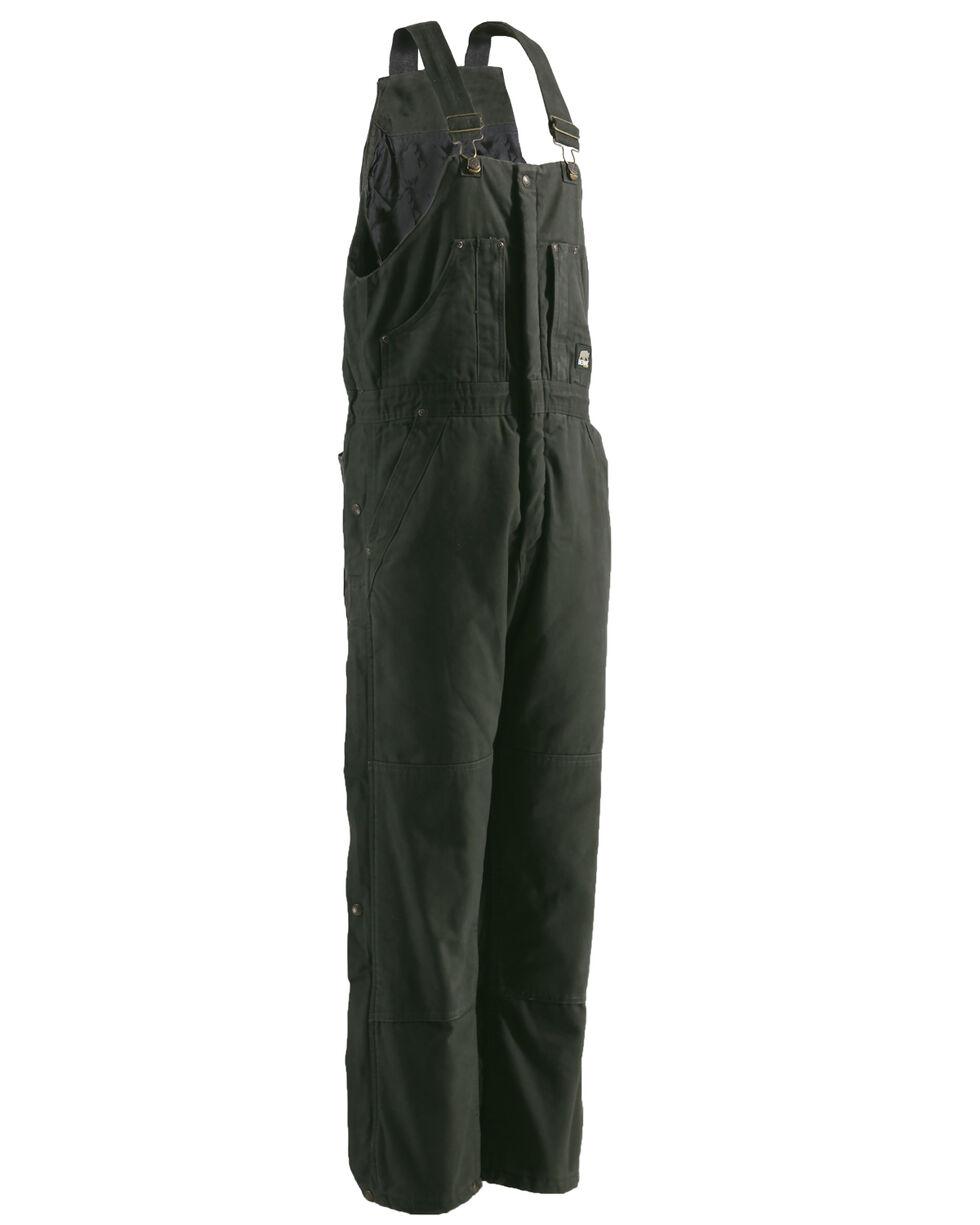 Berne Bark Original Washed Insulated Bib Overalls - Tall, Olive Green, hi-res
