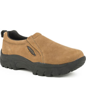 Roper Classic Slip On Casual Shoe, Brown, hi-res