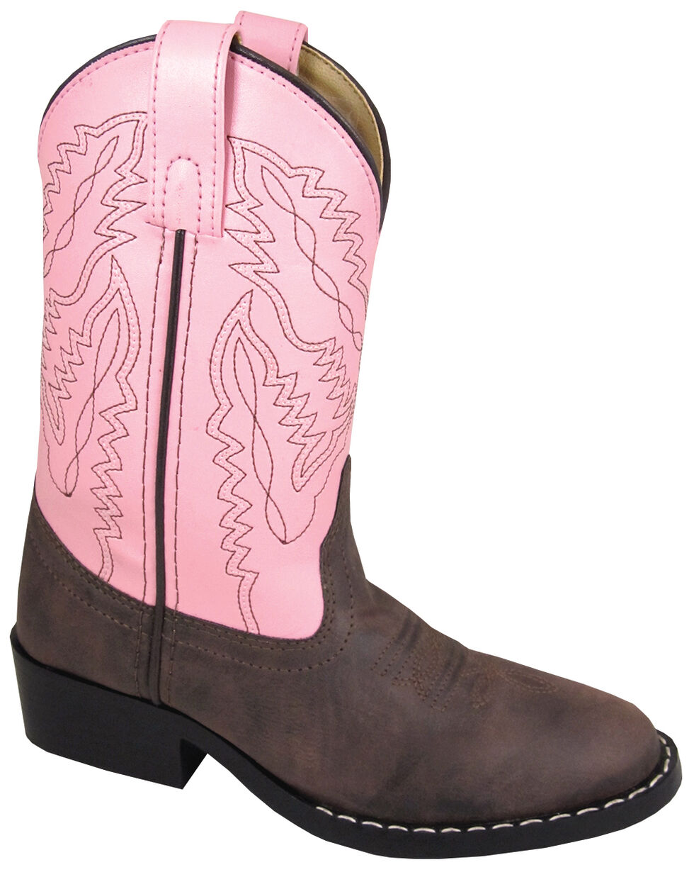 Smoky Mountain Girls' Monterey Western Boots - Round Toe, Brown, hi-res