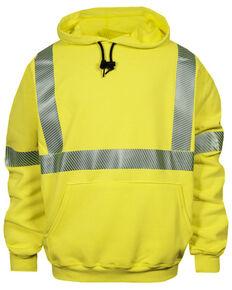 National Safety Apparel Men's Hi-Vis FR VizableType R Class 3 Base Layer Work Sweatshirt, Bright Yellow, hi-res