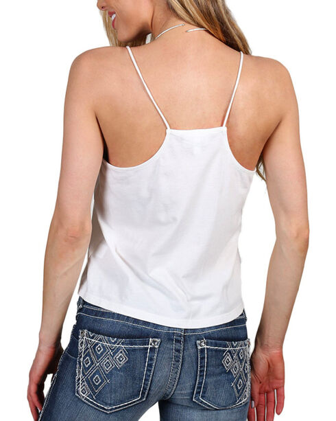 Shyanne Women's Embroidered Sequin Tank Top , Ivory, hi-res