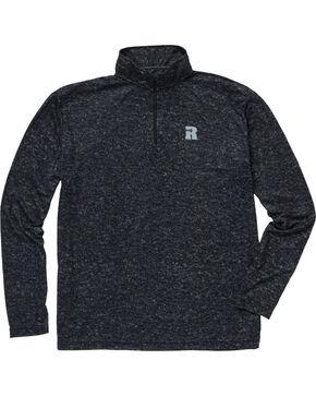Wrangler Men's Olive Riggs Workwear 1/4 Zip Pullover , Charcoal, hi-res