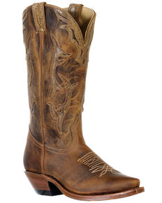 Boulet Women's Snip Toe Western Boots, Brown, hi-res