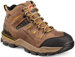 Red Wing Irish Setter Two Harbors Waterproof Hiker Work Boots - Aluminum Toe  , Brown, hi-res