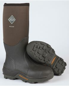 Muck Men's Brown Wetland Premium Field Boots , Bark, hi-res