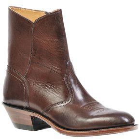 Boulet Western Dress Side Zip Cowboy Boots - Round Toe, Brown, hi-res