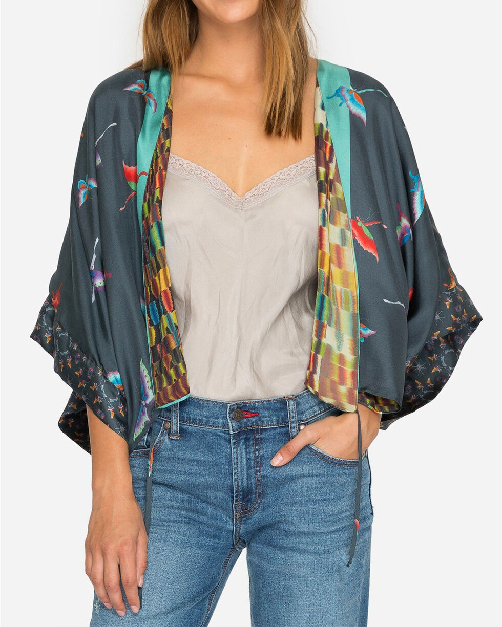 Johnny Was Women's Blue Rainbow Shrug , Multi, hi-res