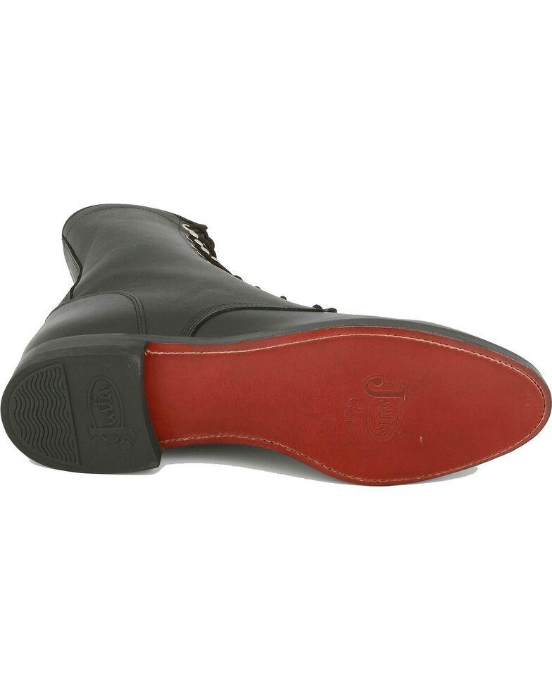 """Justin Men's Hiram 8"""" Classic Black Roper Boots - Round Toe, Black, hi-res"""