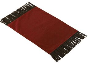 HiEnd Accents Red Tooled Faux Leather Placemats , Red, hi-res
