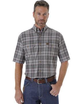 Wrangler Men's Charcoal Riggs Workwear Foreman Plaid Work Shirt , Charcoal, hi-res