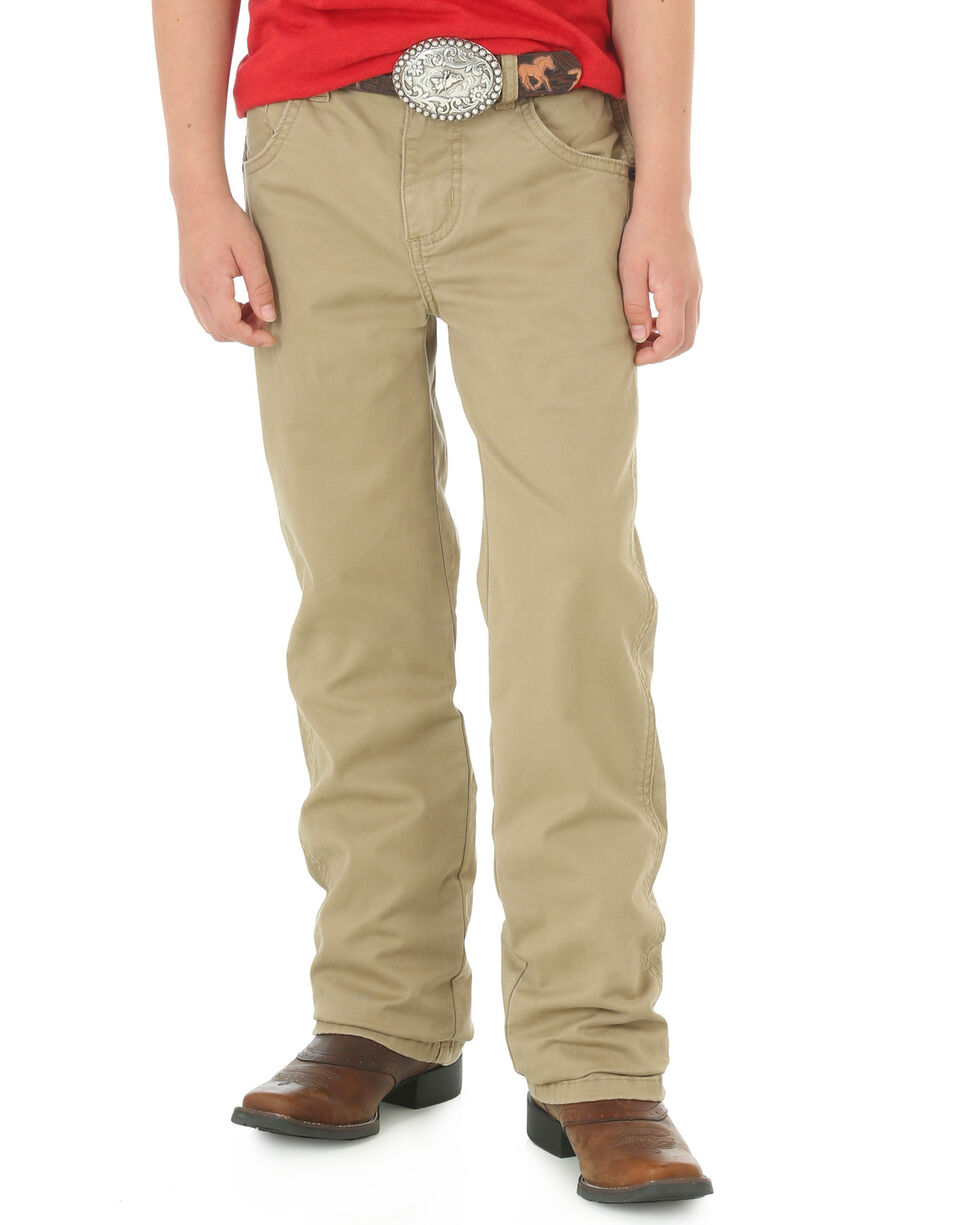 Wrangler Boys' (8-16) Tan Retro Slim Fit Jeans - Straight Leg, Tan, hi-res