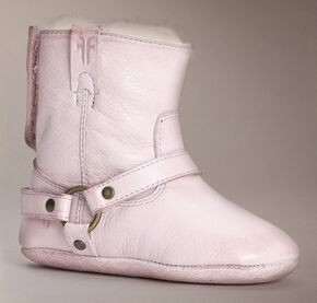 Frye Infant Girls' Velcro Harness Bootie Shearling, Pink, hi-res