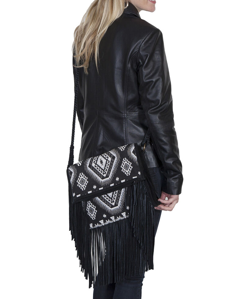 Scully Women's Aztec Crossbody Handbag, Black, hi-res