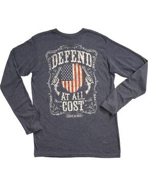 Cody James Men's Defend Long Sleeve Graphic Tee, Navy, hi-res