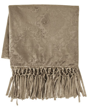 HiEnd Accents Diane Oatmeal Throw, Oatmeal, hi-res