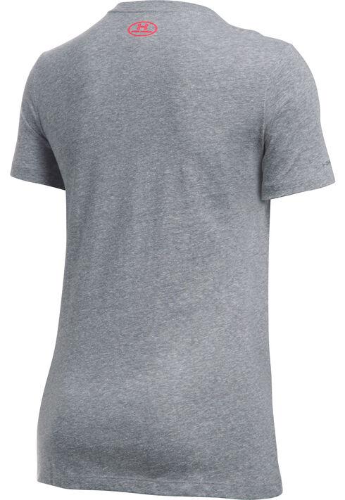 Under Armour Women's Charcoal Grey Camo Logo Triblend T-Shirt, Charcoal Grey, hi-res