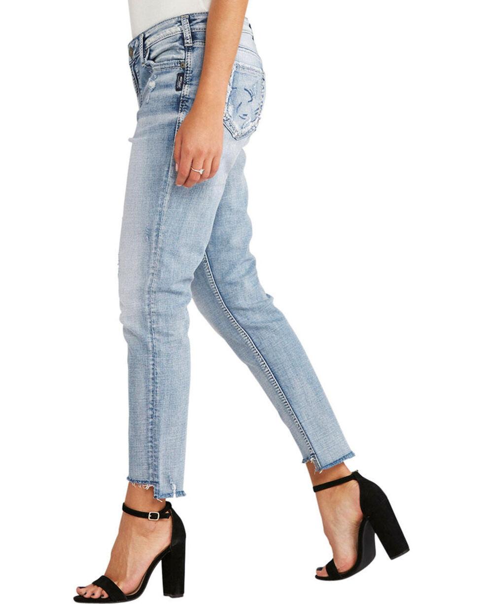 Silver Women's Loose Boyfriend Ankle Skinny Jeans , , hi-res