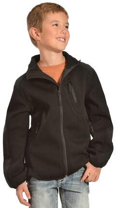 Red Ranch Boys' Black Bonded Jacket with Knit Inset, Black, hi-res
