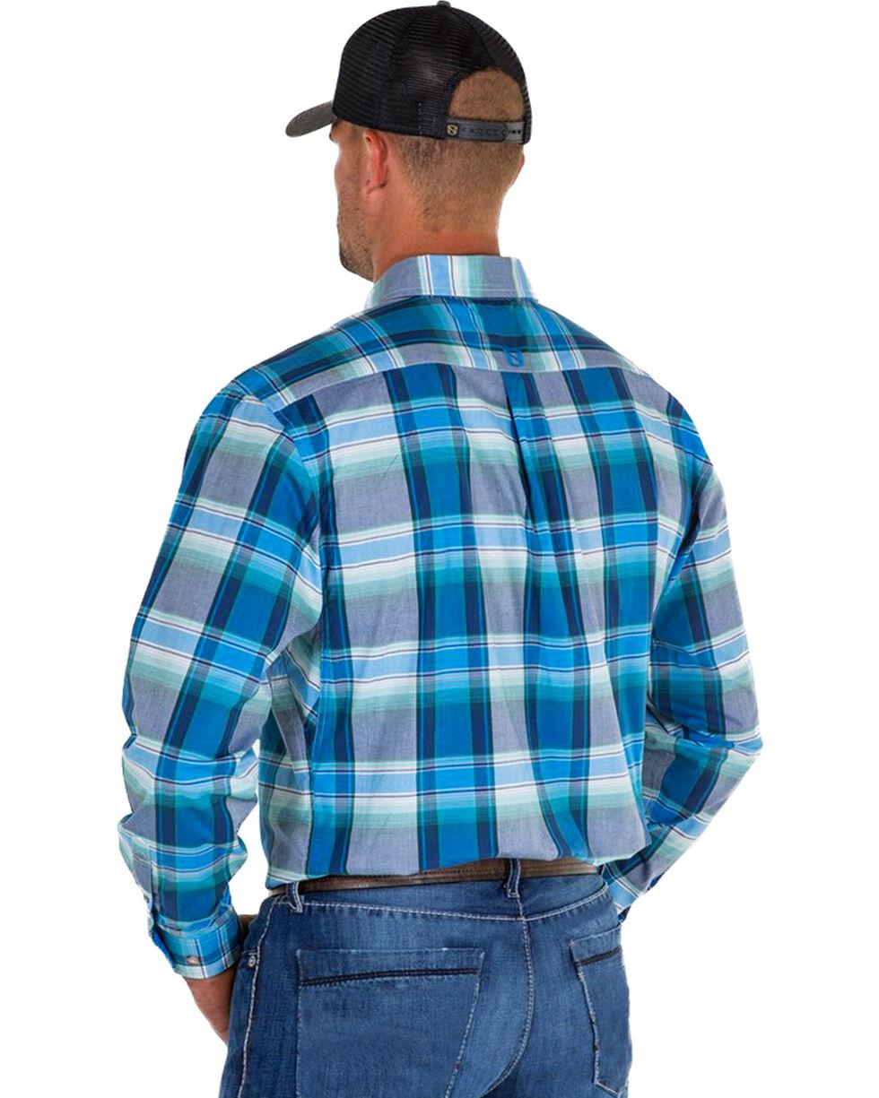 Noble Outfitters Men's Blue Generations Oxford Large Plaid Shirt , Blue, hi-res