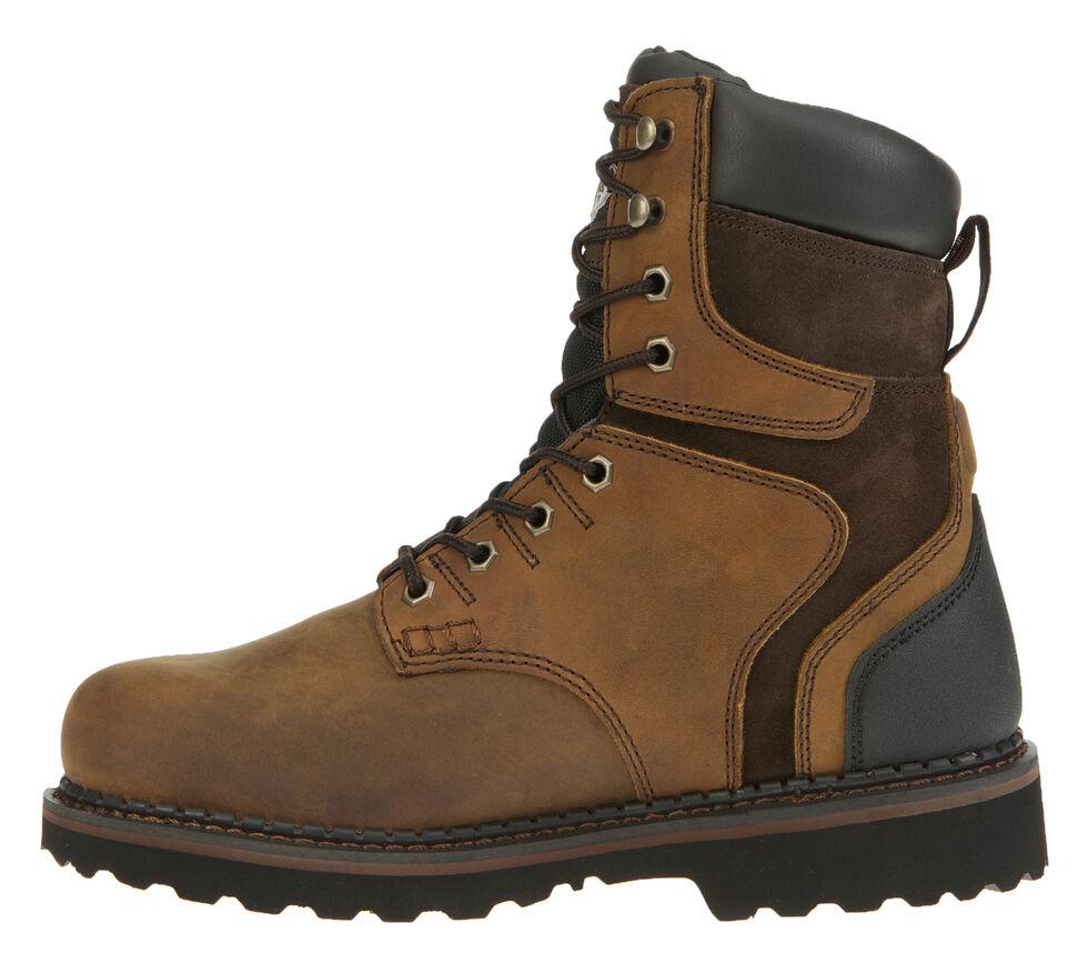 "Georgia Brookville Waterproof 8"" Work Boots, Dark Brown, hi-res"