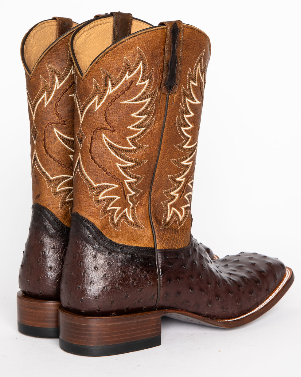 Cody James Men's Ostrich Tobacco Exotic Boots - Square Toe , Tobacco, hi-res