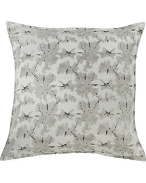HiEnd Accents Wilshire Decorative Print Euro Sham, Grey, hi-res