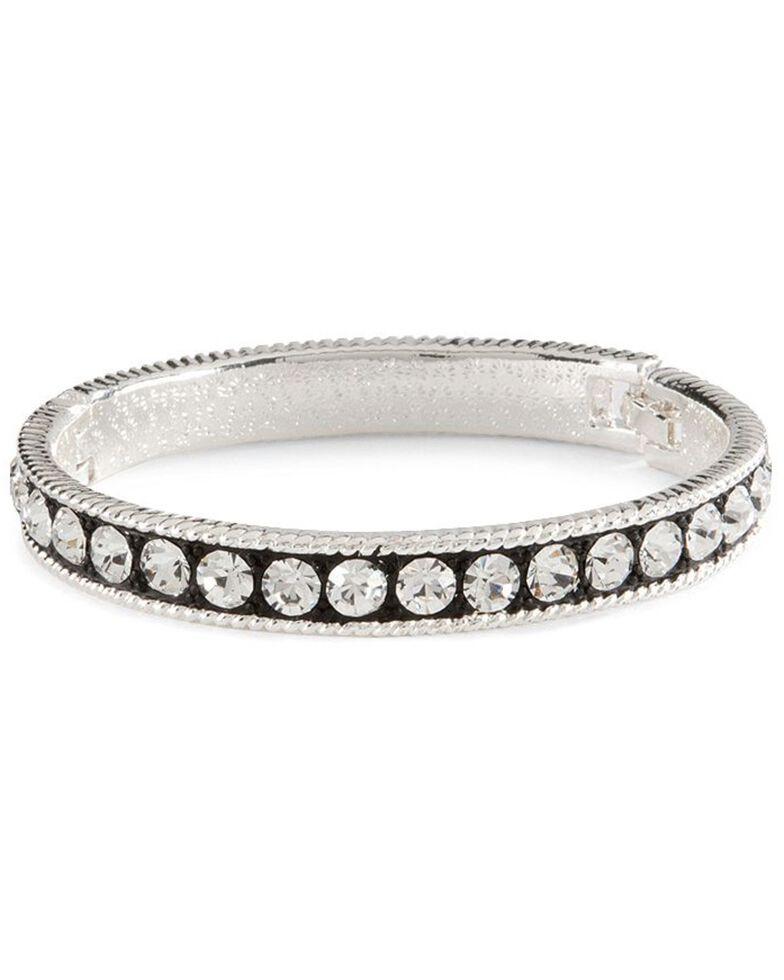 Montana Silversmiths 3 Rings Cubic Zirconia Bracelet, Silver, hi-res