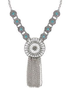 Shyanne Women's Dream Catcher Necklace , Silver, hi-res
