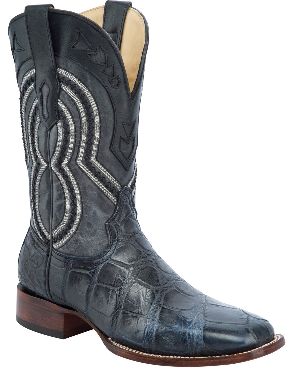 Corral Alligator Cowboy Boots - Square Toe , Grey, hi-res