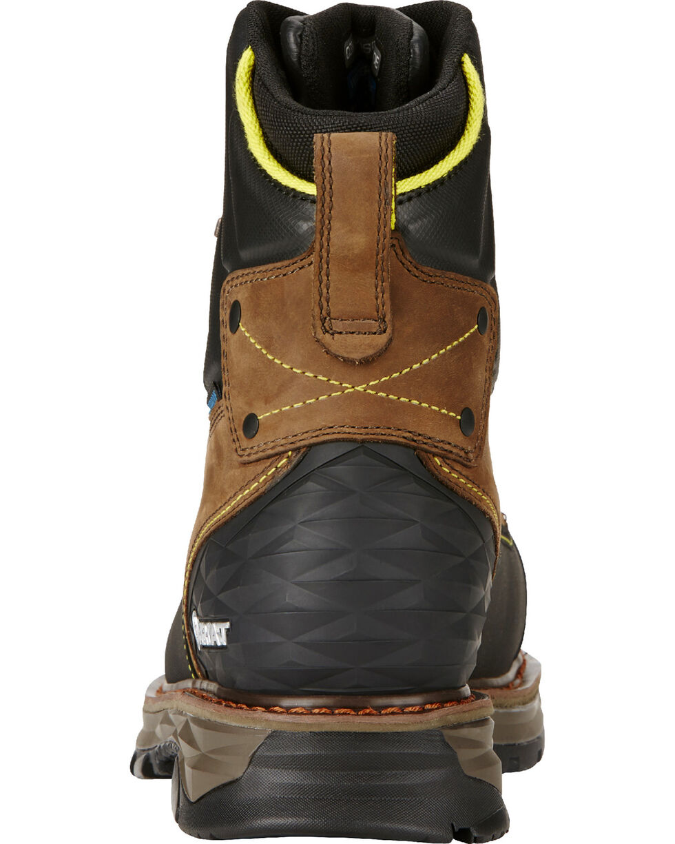 """Ariat Men's Oily Distressed Catalyst VX Work 8"""" H2O Boots - Composite Toe , Brown, hi-res"""