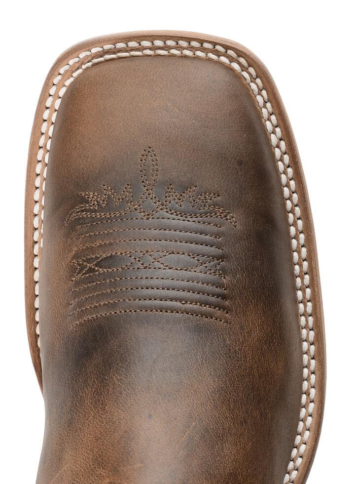 Tony Lama Tan Worn Goat Leather Americana Cowboy Boots - Square Toe, Tan, hi-res