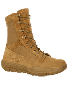 Rocky Men's Lightweight Commercial Military Boots, Tan, hi-res