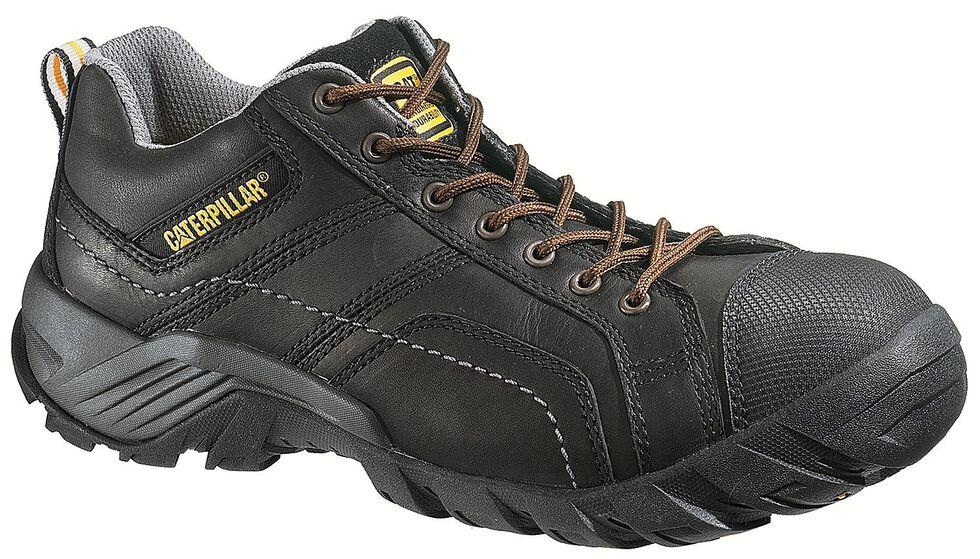 Caterpillar Argon Black Lace-Up Work Shoes - Composite Toe, Black, hi-res