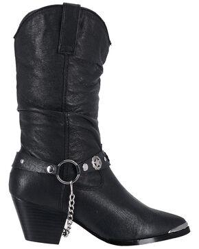 Dingo Supple Pigskin Cowgirl Boots, Black, hi-res