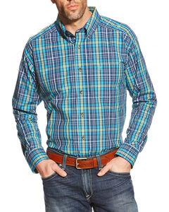 Ariat Men's Lucas Plaid Western Shirt, Multi, hi-res