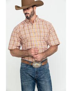 Ariat Men's Freemont Multi Plaid Short Sleeve Western Shirt - Tall , Multi, hi-res