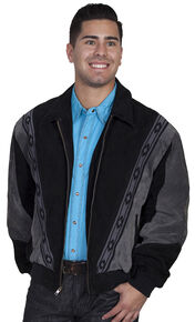 Scully Boar Suede Leather Arena Jacket, Grey, hi-res