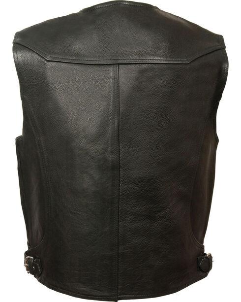 Milwaukee Leather Men's Black Deep Pocket Vest - Big 3X , Black, hi-res