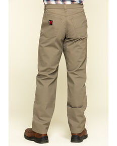Wrangler Riggs Men's Brown Relaxed Ripstop Technical Work Pants , Bark, hi-res