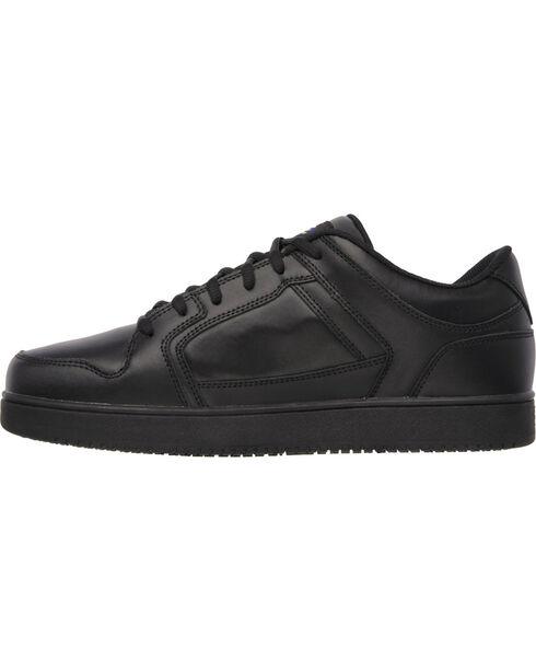 Skechers Men's Black Ossun Slip Resistant Work Shoes , Black, hi-res