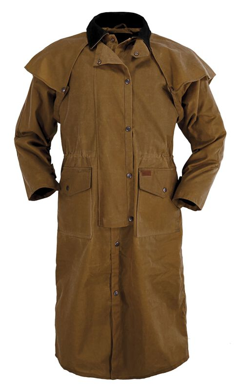 Outback Trading Co. Stockman Oilskin Duster, Tan, hi-res