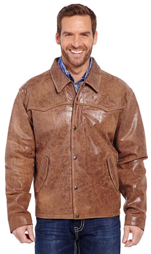 Cripple Creek Men's Hand Sanded Snap Front Jacket, Saddle Brown, hi-res